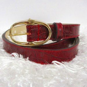 Talbots Made in Italy Red Genuine Leather Belt